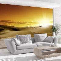 March of camels fotostat - flot foto tapet til væggen
