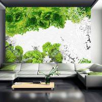 Colors of spring: green fotostat - flot foto tapet til væggen