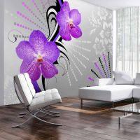 Purple vibrations fotostat - flot foto tapet til væggen