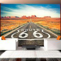 Route 66 fotostat - flot foto tapet til væggen