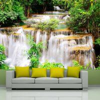 Thai waterfall fotostat - flot foto tapet til væggen