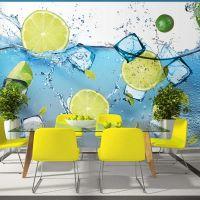 Refreshing lemonade fotostat - flot foto tapet til væggen