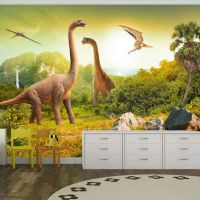 Dinosaurs fotostat - flot foto tapet til væggen