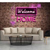 Welcome home fotostat - flot foto tapet til væggen