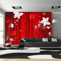 Flowering scarlet fotostat - flot foto tapet til væggen