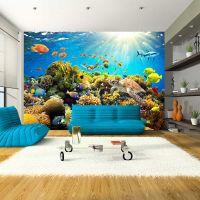 Underwater Land fotostat - flot foto tapet til væggen