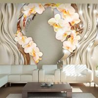Wreath of orchids fotostat - flot foto tapet til væggen