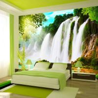 The beauty of nature: Waterfall fotostat - flot foto tapet til væggen