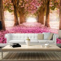 Pink grove fotostat - flot foto tapet til væggen