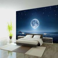 Moonlit night fotostat - flot foto tapet til væggen