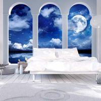 Night in Greece fotostat - flot foto tapet til væggen