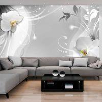 Charming orchid fotostat - flot foto tapet til væggen