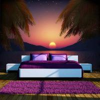 Romantic evening on the beach fotostat - flot foto tapet til væggen