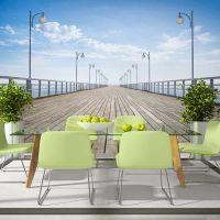 On the pier fotostat - flot foto tapet til væggen
