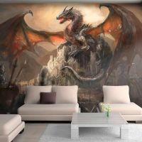 Dragon castle fotostat - flot foto tapet til væggen
