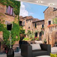 Tuscan alley fotostat - flot foto tapet til væggen