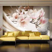 Waves of Magnolia fotostat - flot foto tapet til væggen