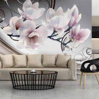 Beauty of Magnolia fotostat - flot foto tapet til væggen