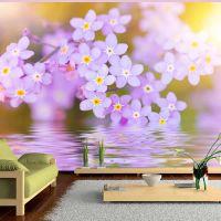 Violet Petals In Bloom fotostat - flot foto tapet til væggen