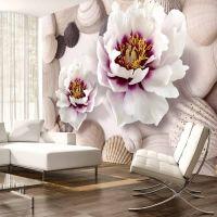 Flowers and Shells fotostat - flot foto tapet til væggen