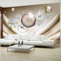 Golden Abstract fotostat - flot foto tapet til væggen