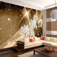 Golden Milky Way fotostat - flot foto tapet til væggen