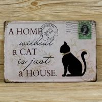Emaljeskilt A home without a cat - NiceWall.dk