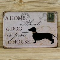 Emaljeskilt A home without a dog - NiceWall.dk