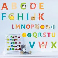 Alfabet fra A til Z wall sticker. Flot vægklistermærke med bogstaver.