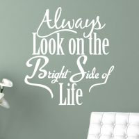 Always Look on the Bright Side - Wallsticker NiceWall.dk