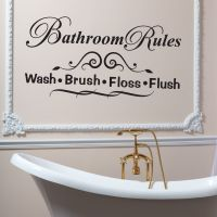 Wallsticker Bathroom Rules - NiceWall.dk