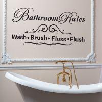 Wallsticker Bathroom Rules - NiceWall.dk