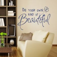 Wallsticker Be Your Own Kind of Beautiful - NiceWall.dk