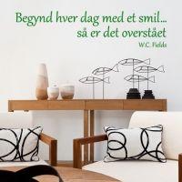 Wallsticker Begynd hver dag med et smil - NiceWall.dk