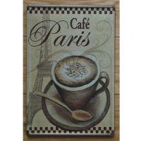 Emaljeskilt Café Paris - NiceWall.dk
