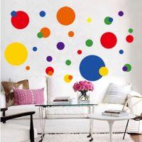 Cirkel wall stickers. Flot vægklistermærke med forskellige cirkler / prikker.