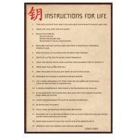 Dalai lama plakat - Flot kunstprint med Dalai Lamas råd om livet