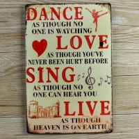 Emaljeskilt Dance Love Sing Live - NiceWall.dk
