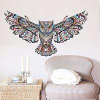 Dekorativ Ugle wall sticker. Flot vægklistermærke med fugl.