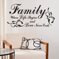 Family - Where life begins - Wallstickers fra NiceWall.dk