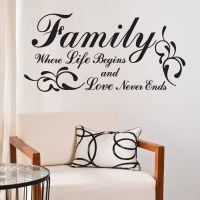 Family - Where life begins - Wallstickers fra NiceWall.dk