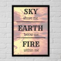 Fire within me - Plakat fra NiceWall.dk