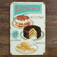 Emaljeskilt Fresh baked goods - NiceWall.dk