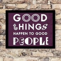 Plakat: Good Things - NiceWall.dk