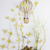 3D Sommerfugle wallstickers med guldglimmer