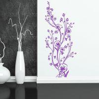 Wallsticker Høj, smuk blomsterdekoration - NiceWall.dk