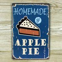 Emaljeskilt Homemade Apple Pie - NiceWall.dk