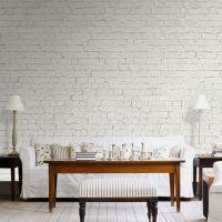 Hvide mursten - Foto tapet - Foto stat