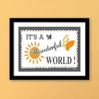 Plakat: It's a Wonderful World! - NiceWall.dk