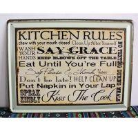 Emaljeskilt Kitchen Rules - NiceWall.dk - NiceWall.dk